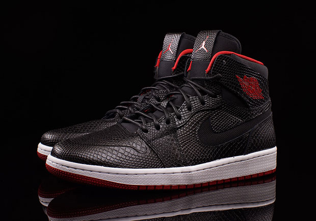 If you liked what you were seeing with the preview of the Air Jordan 1 High  Nouveau in black snakeskin just a couple of days ago, then today brings you  some ...