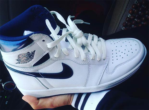 "8cb3f1c9bd56 Air Jordan 1 Retro High OG ""Metallic Navy"". Color  White Metallic Navy  Style Code  555088-106. Release Date  June 4th"