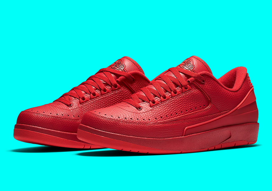 "72c9876ce76f10 Air Jordan 2 Low ""Gym Red"" Releases Next Month"