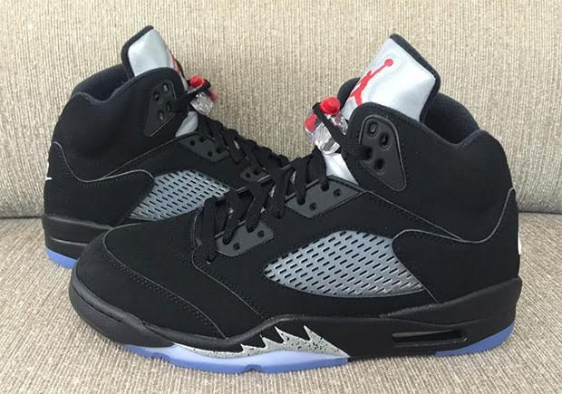 pretty nice 5ed70 98b31 Air Jordan 5 Black Metallic Silver Release Date 845035-003 ...
