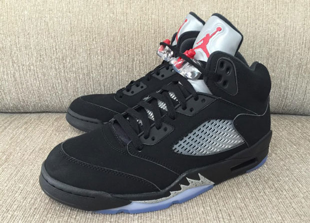 pretty nice a05a5 b3320 Air Jordan 5 Black Metallic Silver Release Date 845035-003 ...