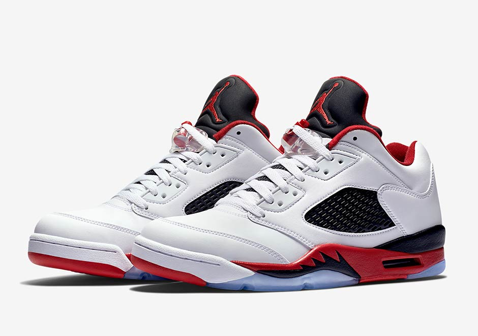 daac916d5bc ... sale official images of the air jordan 5 low fire red sneakernews d2bce  3db76