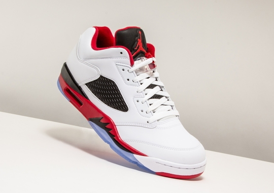 "Air Jordan 5 Low ""Fire Red"" Available Now Through Stadium Goods Early Access"