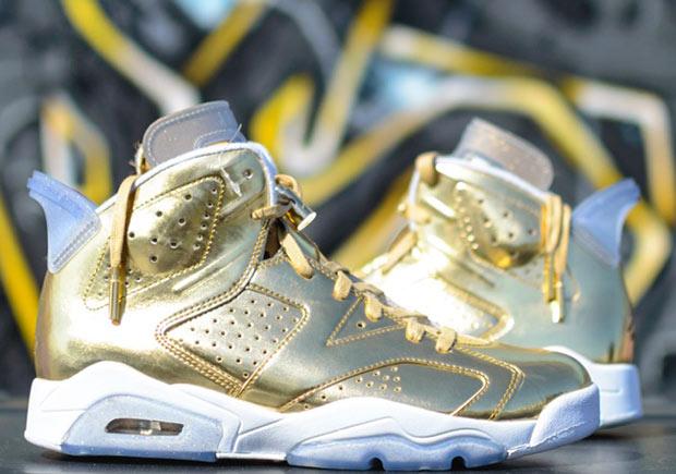 """e066ecb16f66 Air Jordan 6 """"Pinnacle"""" In Gold Releasing In December"""