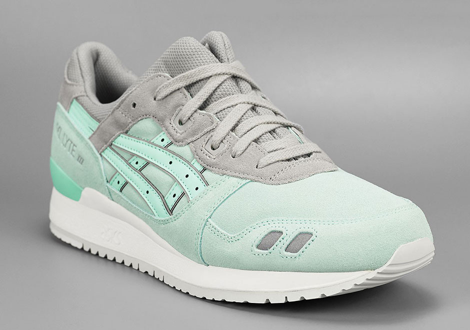 another minty take on the asics gel lyte iii. Black Bedroom Furniture Sets. Home Design Ideas