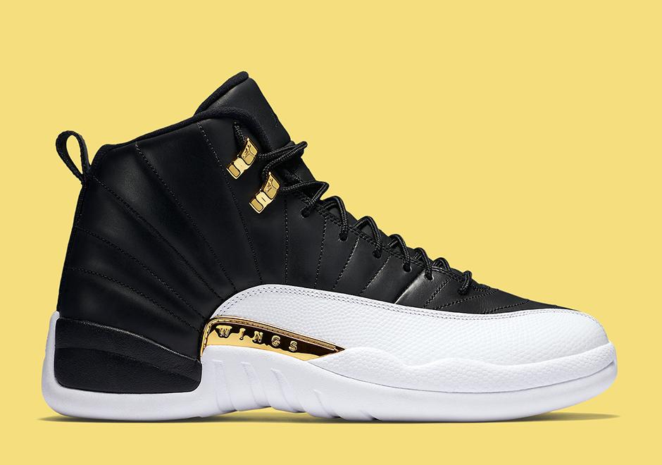 Nike Air Jordan 12 XII Mens Shoes 2013 New Black Yellow