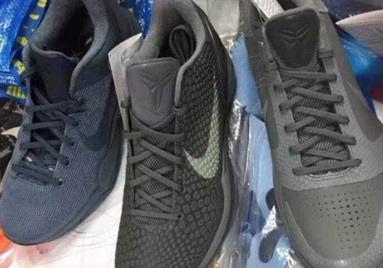 "First Look At The Nike Kobe 5, 6, and 7 From The Upcoming ""Fade To Black"" Series"