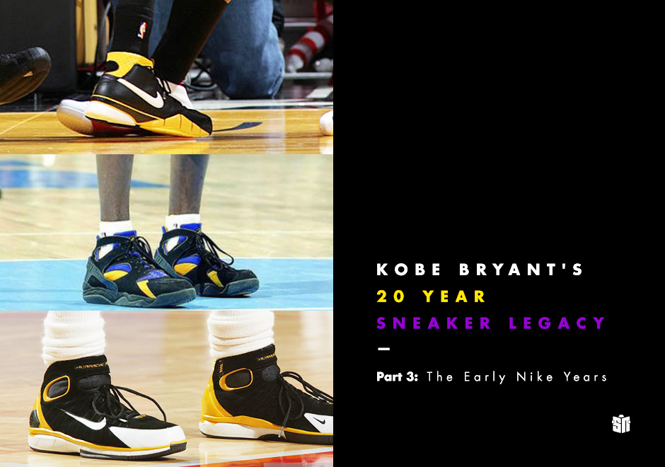 09cad61487c9 Kobe Bryant s 20 Year Sneaker Legacy - Part 3  The Early Nike Years ...