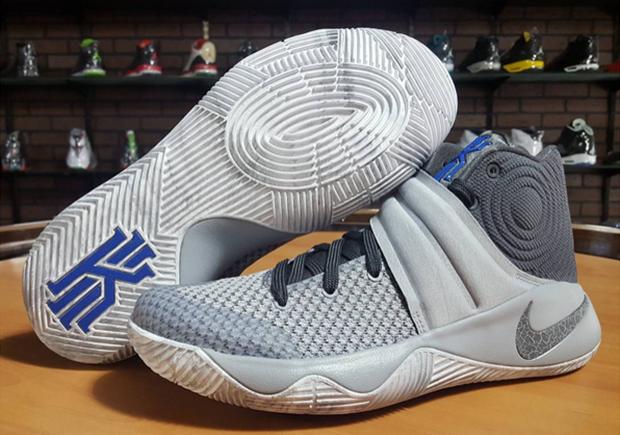 Nike Kyrie 2. Color: Wolf Grey/Dark Grey-Omega Blue-Cool Grey