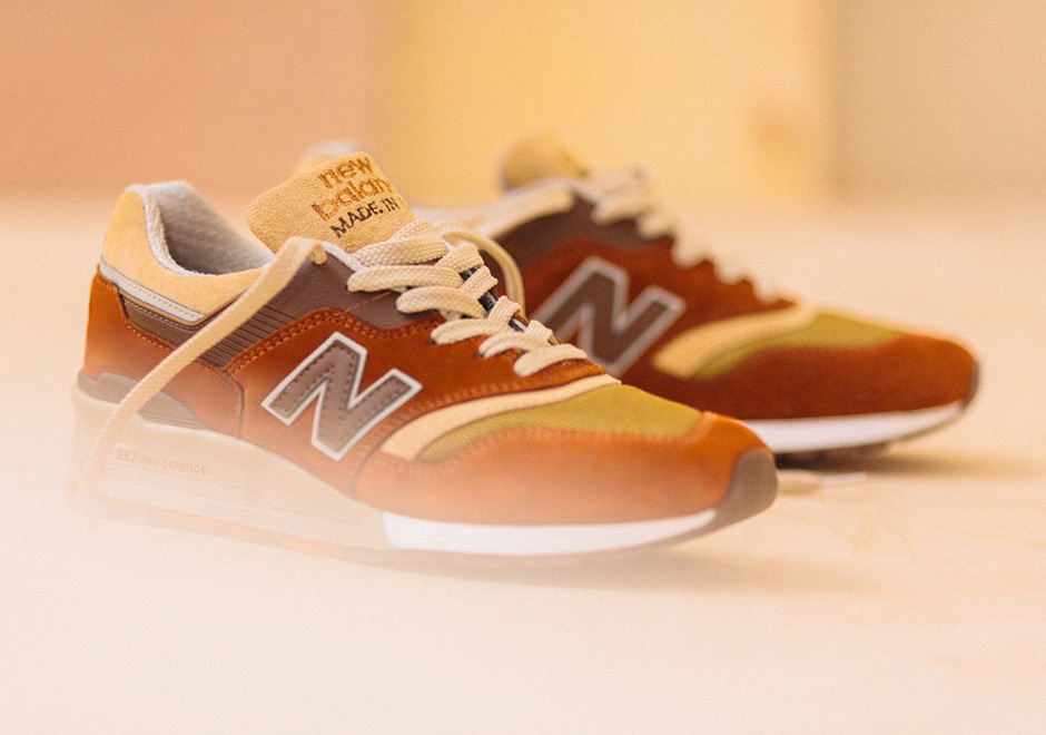 new balance 997 with butterscotch candy