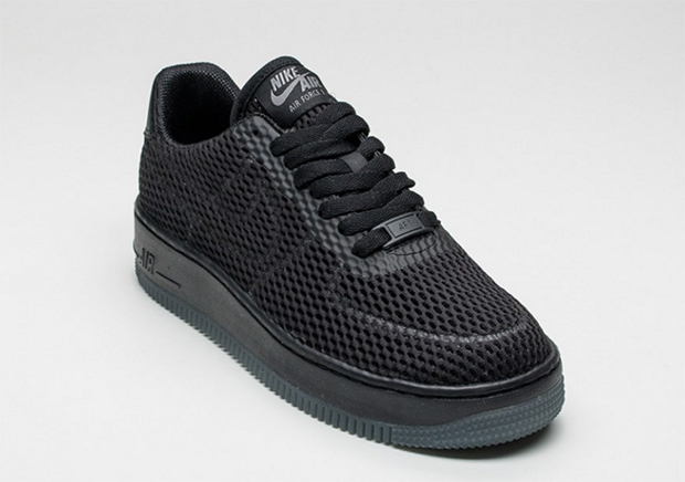 Nike Air Force 1 Low Upstep BR. Color: Black/Black-Cool Grey Style Code: 833123-001. Release Date: March 2016