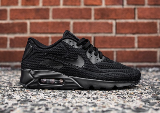 """A """"Triple Black"""" Colorway Of The Nike Air Max 90 Ultra BR Is Here 9cdae62e2e"""