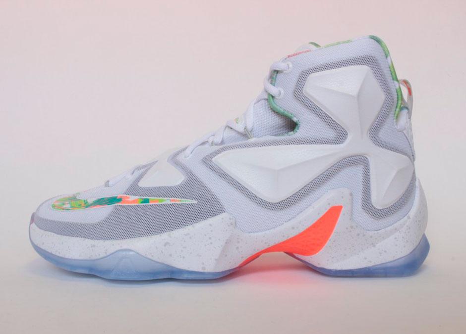 """65e4e0db86cd Nike LeBron 13 """"Easter"""". Color  White Pure Platinum-Bright Mango-Arctic  Glacier Style Code  807219-108"""