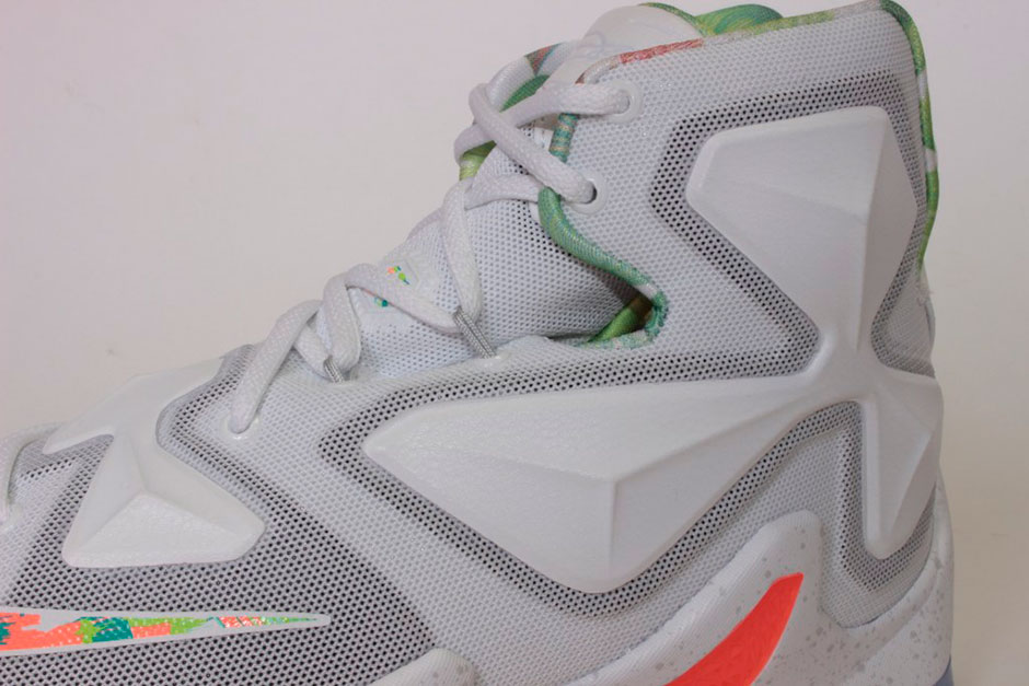 "super popular 8649a 3936a Nike LeBron 13 ""Easter"". Color  White Pure Platinum-Bright Mango-Arctic  Glacier Style Code  807219-108. Release Date  March ..."