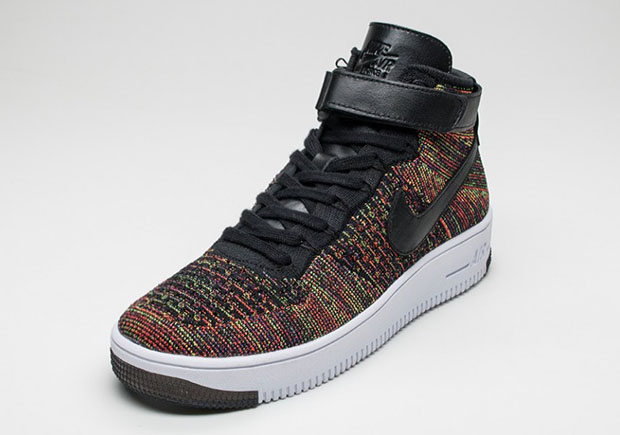 Nike Air Force 1 Mid Flyknit Multicolore 3 cAocY5