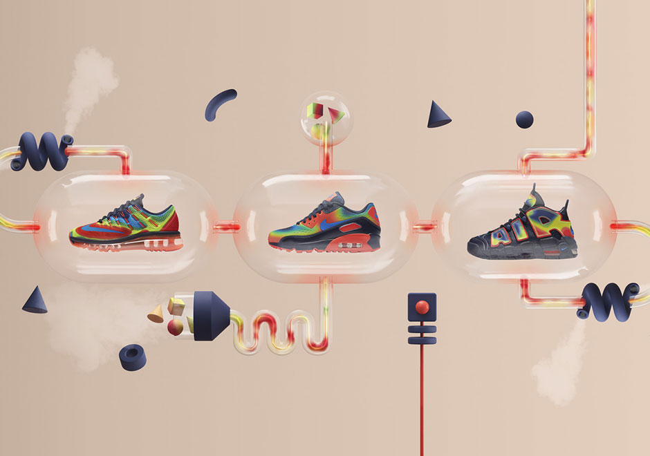 2981a37b3c Nike Presents The Heat Map Pack Featuring Air More Uptempo, Air Max 90, And Air  Max 2016 - SneakerNews.com