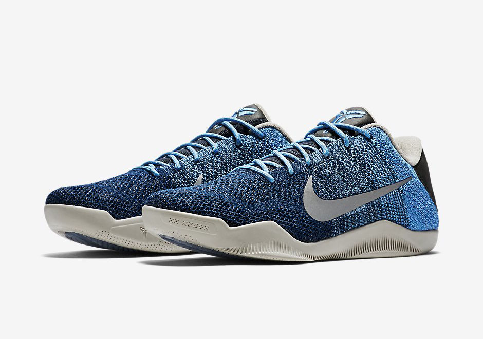 "new concept 83630 c4558 The Kobe 11 ""Brave Blue"" Features Special Detailing On the Heel and Sole"