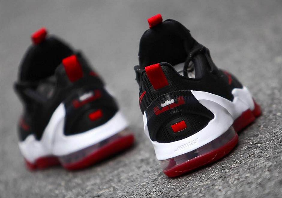 """new concept 31cbd c7d28 Nike LeBron 13 Low """"Bred"""". Color  Black University Red-White Release Date   April 2nd, 2016. Advertisement"""