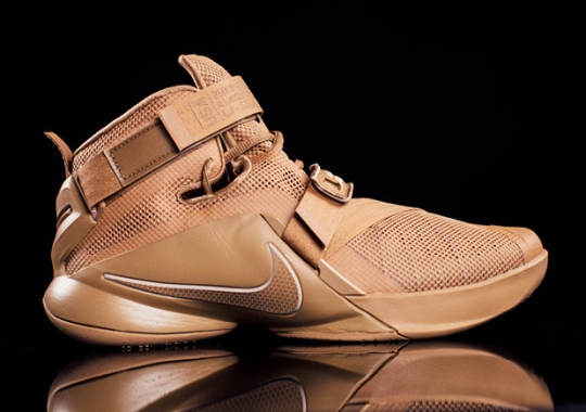 """The Nike LeBron Soldier 9 Is Ready For Battle With """"Desert Storm"""" Colorway"""