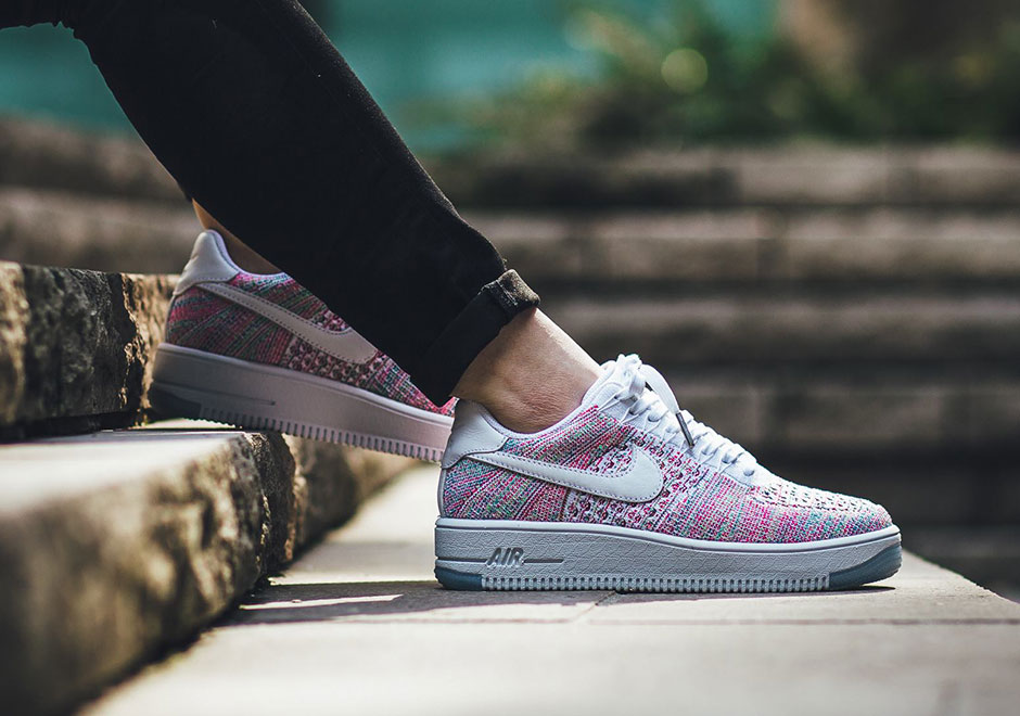 b86db3ec454 Nike WMNS Air Force 1 Low Flyknit Multicolor 820256-102 | SneakerNews.com
