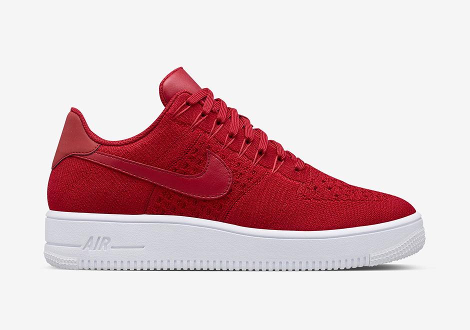 Nike Air Force 1 Rouge Faible Gymnase / Tricot Noir 75GFdP