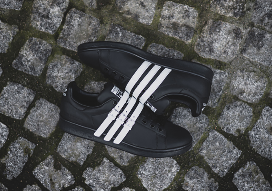Raf Simons  adidas Stan Smith Comes Strapped In Three Colorways ... 6052384c8a