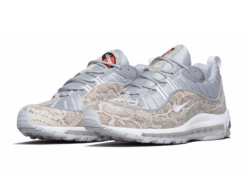 "Official Images Of The Supreme x Nike Air Max 98 ""Sail"" cdb8aab60"