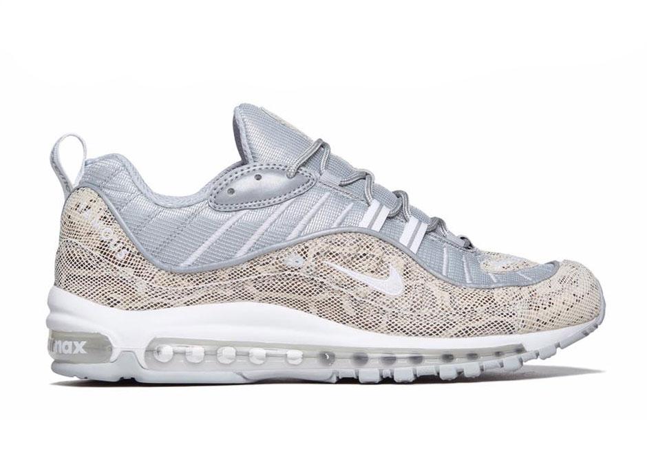 Supreme x Nike Air Max 98 White Shoes