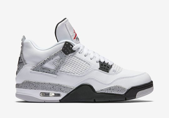 "Air Jordan 4 ""White/Cement"" Restock At Finish Line"