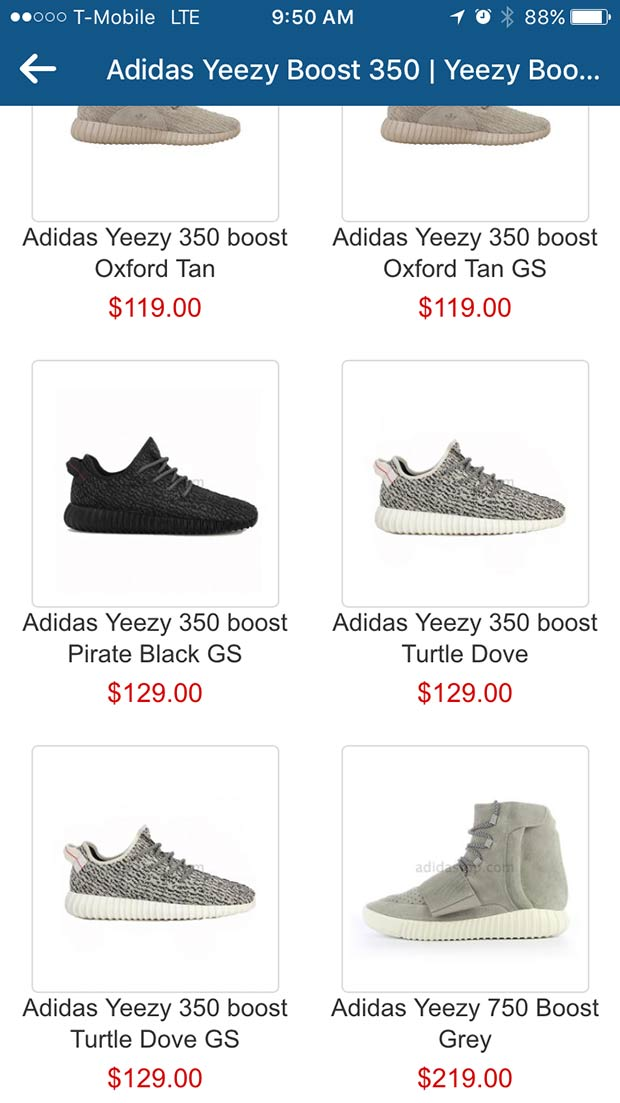 Instagram Features Sponsored Ad For Fake Yeezy Boosts Sneakernews Com
