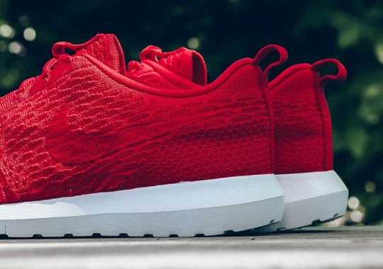 Nike's Latest Flyknit Roshe Goes Solid Red