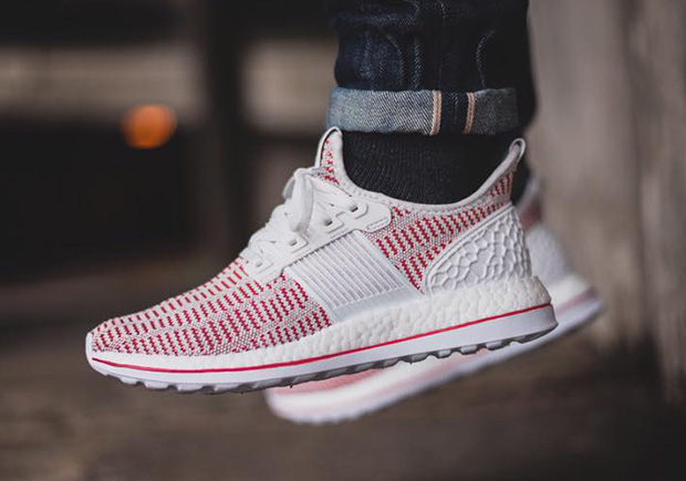 adidas Pure Boost ZG In Crystal White And Vivid Red - SneakerNews.com 57b1dc203