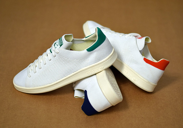 "2d2bf19fe4b42c Vintage looks and a modern construction combine flawlessly on this upcoming  set of the adidas Stan Smith Primeknit for the ""OG"" pack."