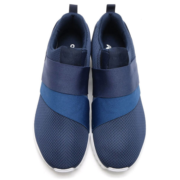 Cheap Womens Blue Adidas Zx Flux Adv Smooth Slip On Trainers at