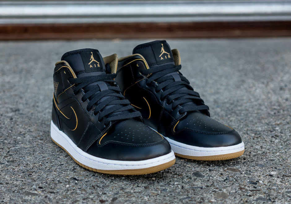 2f7729c1bb89 Your Entire Family Can Lace Up These Black Gold Air Jordan 1 Mids