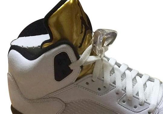 """First Look At The Air Jordan 5 """"Gold Tongue"""""""