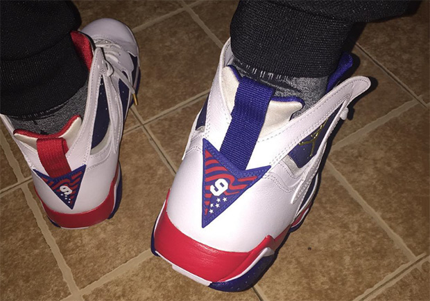 look for ba005 5620a 2012 Nike Air Jordan 7 Vii Retro Olympic Whitegold-obsdn-red 304775-135 ...