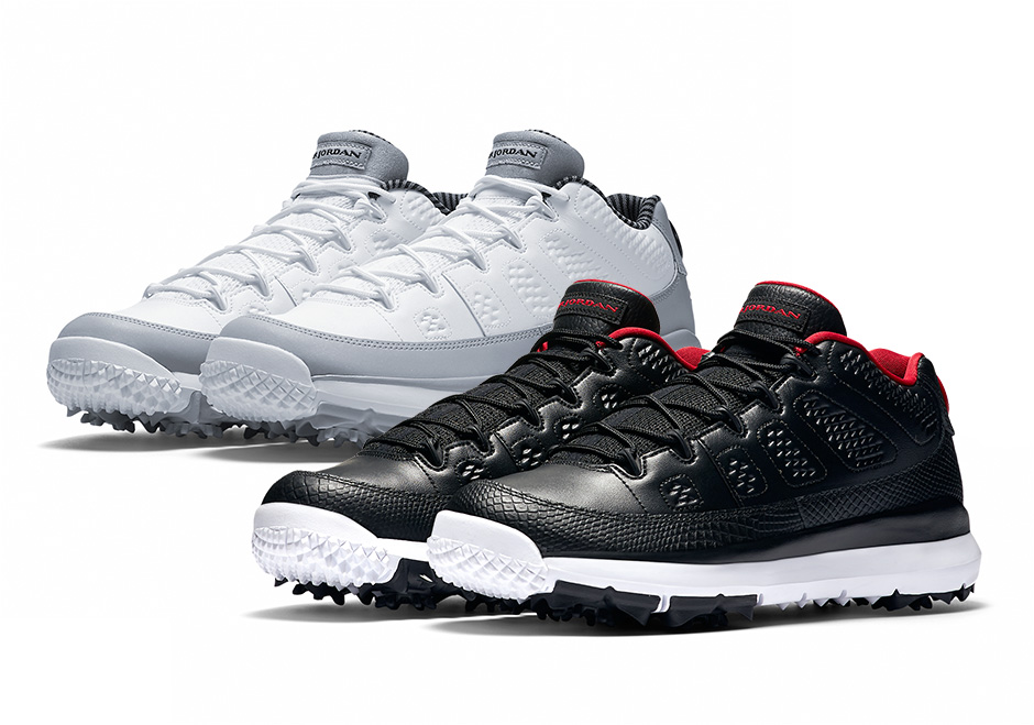 Jordan Brand is honoring Michael Jordan's love for the game of golf with  two brand new Air Jordan 9 Low Golf cleats available later today from Nike  ...