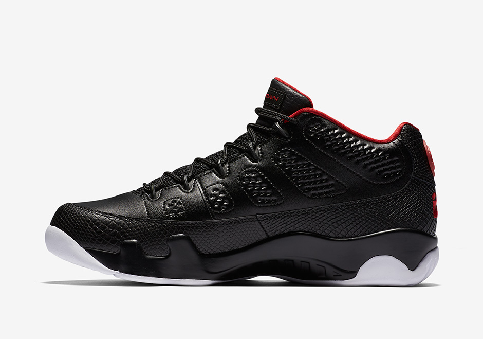 "AIR JORDAN 9 LOW ""BRED"". Color  Black University Red-White Style Code   832822-001. Release Date  April 16 979fd7601c"