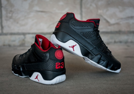 """""""Bred"""" Gets A Snakeskin Remix On This Weekend's Air Jordan 9 Low"""