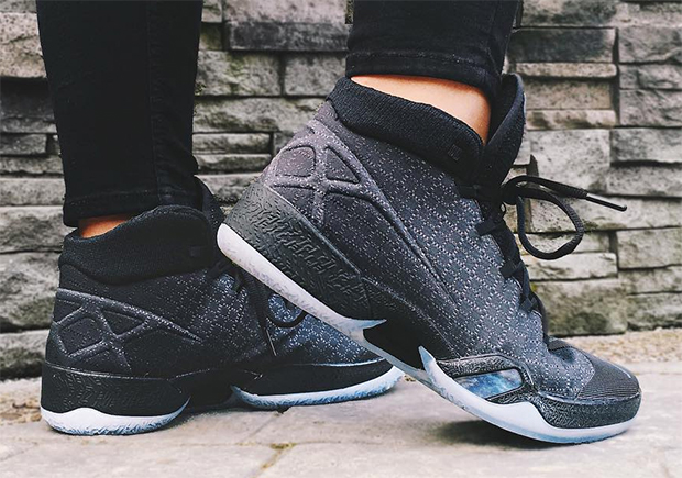 new products 55a05 f3b90 The third confirmed Air Jordan XXX was revealed to be this Black Anthracite  version that was first spotted at 306 YONGE during NBA All-Star Weekend in  ...
