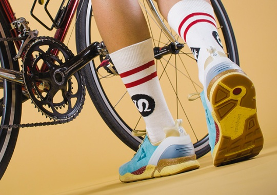 """Le Coq Sportif Teams With Five Global Sneaker Shops For The """"Cycling Club"""" Pack"""