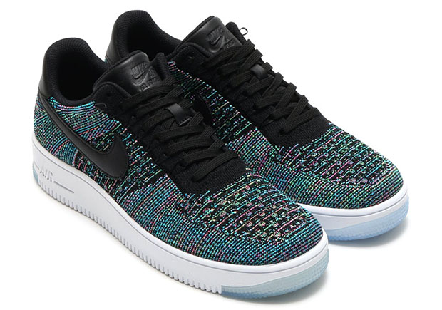 nike air force flyknit low multicolor