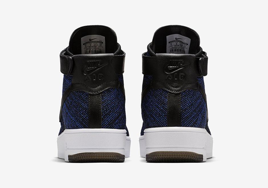 Nike Air Force 1 Flyknit Mediados Blanco Jordan ukYhal