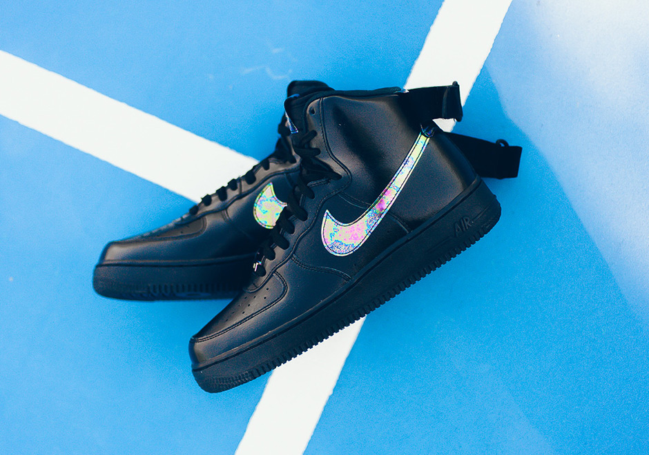 """purchase cheap defca b49e8 ... Air Force 1 in a while, you can find pairs of this """"Oil Slick"""" colorway  spilling in to select Nike Sportswear retailers like Sneaker Politics right  now."""