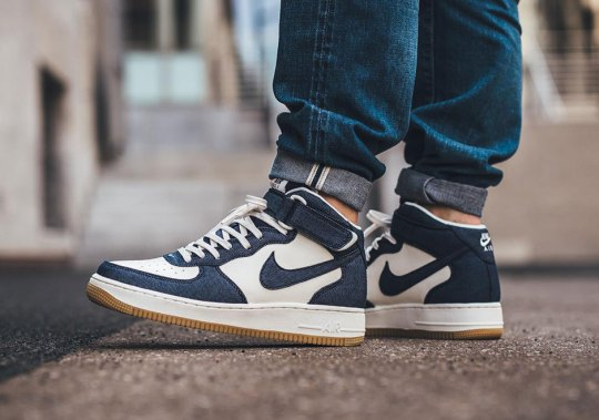 Denim And Gum Soles Arrive On The Nike Air Force 1 Mid