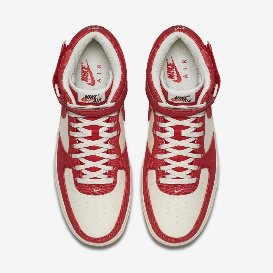 Red Denim Twill Hits The Nike Air Force 1 Mid