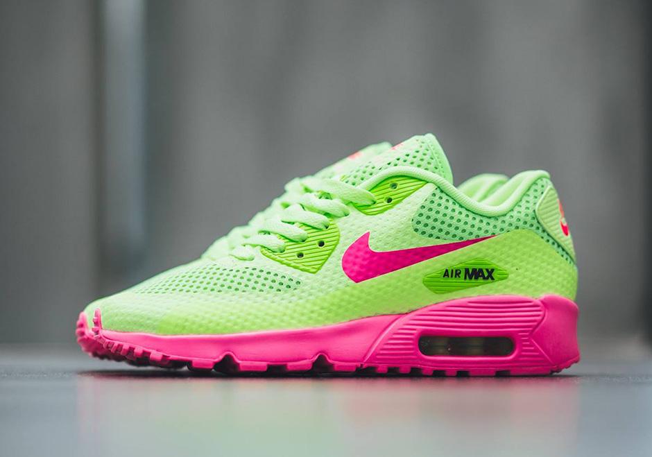 neon green nike air max 90