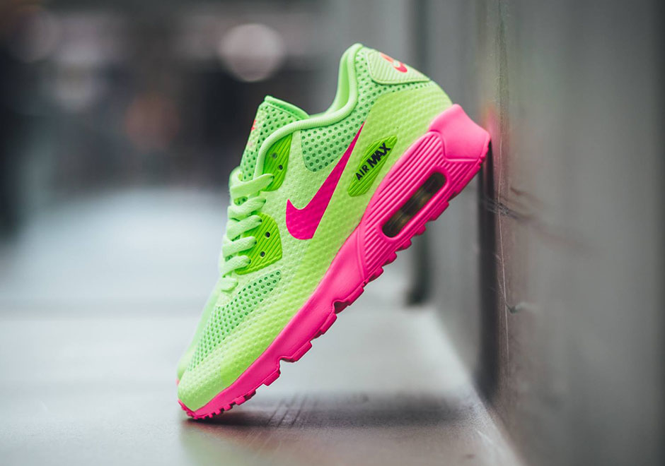Nike Air Max 90 GS Ghost Green Pink Flash 833409 300