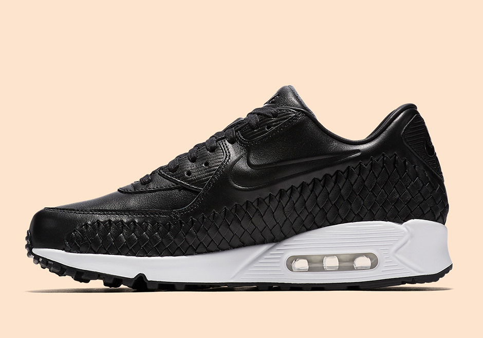 Loading zoom Nike Air Max 90 Woven. Color BlackBlack-White Style Code  833129-001.